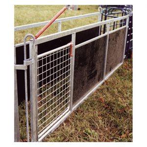 Barrière pleine & portillon de tri. 2.5 m x 0,9 m