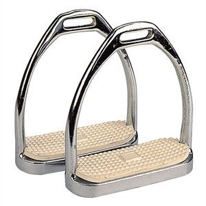 Steel stirrups, Chromed, 10 cm