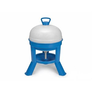 Siphon drinker for chickens, Blue