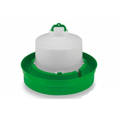 Drinker for chickens, 5 l. Deep base, Green & White