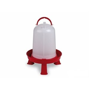 Eco chicken drinker with legs, Red