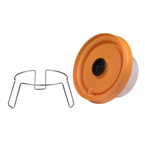 Metal holder with legs for chicken drinkers, 50 / 80 mm