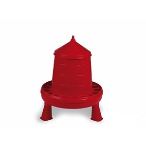 Plastic poultry feeder with legs, 4 kg, Red