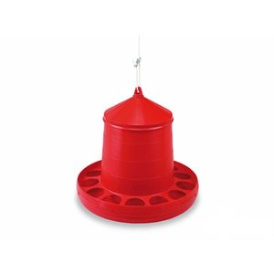 Plastic poultry feeder, 12 kg, Red