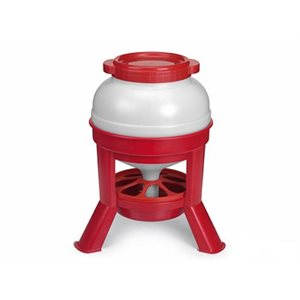 Hopper feeder, 20 l. plastic, Red