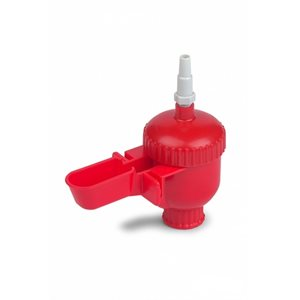 Mini automatic drinker for poultry, Red, w / o bottle
