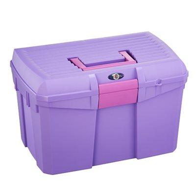 Malle de pansage violet & poignée rose (nouveau)
