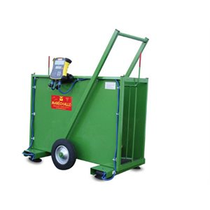 Cage PM120 avec balance élect, vert, 1.2 x 0.68 x 1.38 m