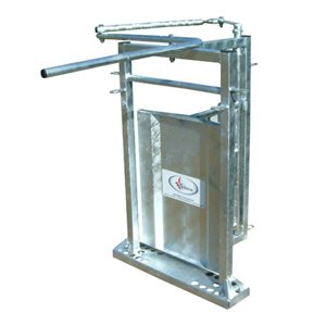 Two-way sort gate, Galvanized