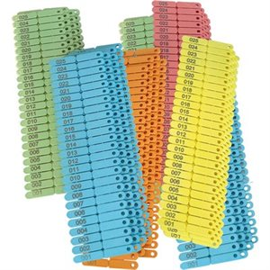 Numbered Blue tip tag pkg / 100
