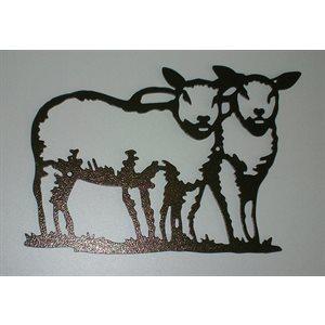 Décoration murale mouton