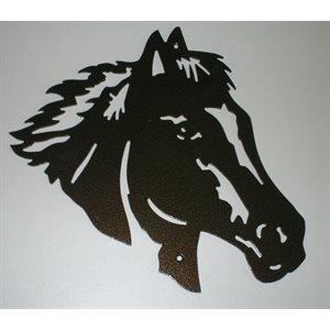 Décoration murale tête de cheval