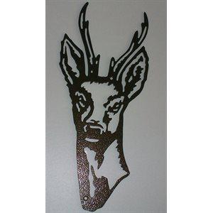 Décoration murale tête de chevreuil