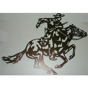 Cowboy and horse wall decoration