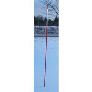 Tige fibre de verre avec adhesif, rouge