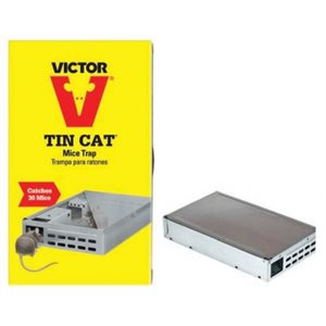 Tin cat mouse trap boxed